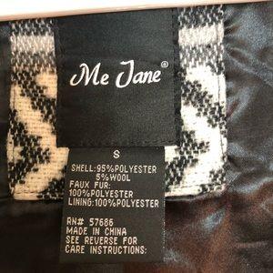 Me Jane Jackets & Coats - ME JANE PATTERN PRINT JACKET VEST FUR COLLAR